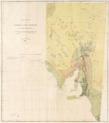 early maps pastoral leases south australia