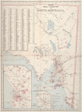 Australia Map 1850.Early Railways Maps In South Australia 1888 And 1930