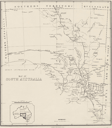 Early Railways Maps In South Australia 1888 And 1930